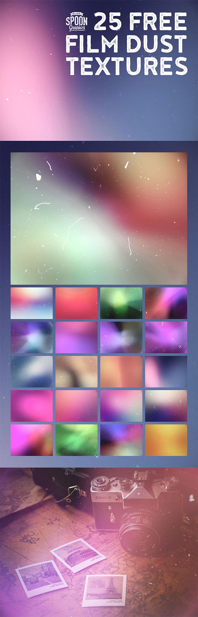 25种旧照片痕迹纹理效果PS笔刷素材下载(JPG图片格式,请叠加使用)