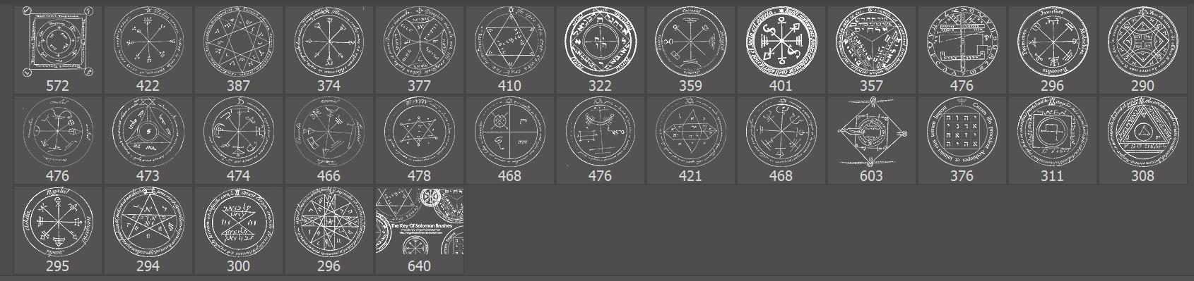 魔法阵、神魔符号、神秘魔法印记PS笔刷下载