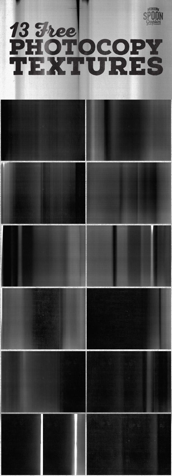 13种高清复印纹理、黑白混合渐变层效果PS笔刷素材(JPG格式)