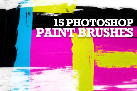15免费高清油漆染料笔触Photoshop笔刷