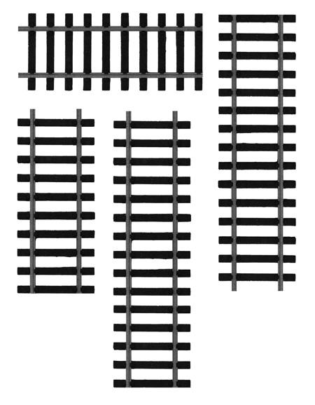 火车轨道图案PS笔刷下载