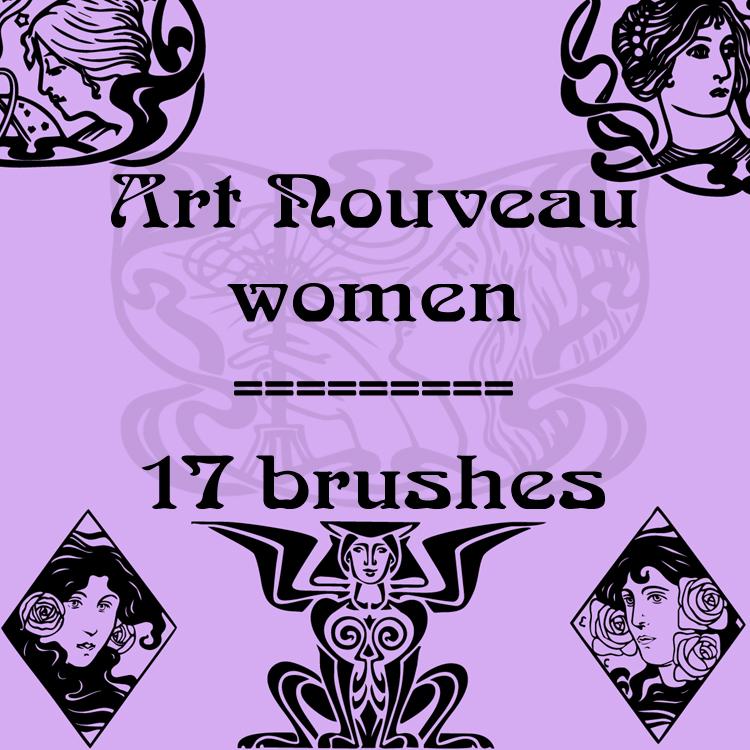 女性部落文化艺术图案Photoshop笔刷下载