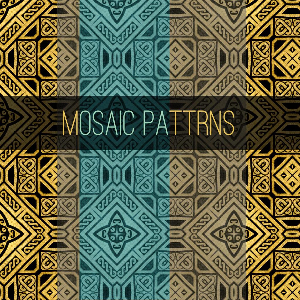 15种中东风情古典花纹图案填充Photoshop底纹素材.pat