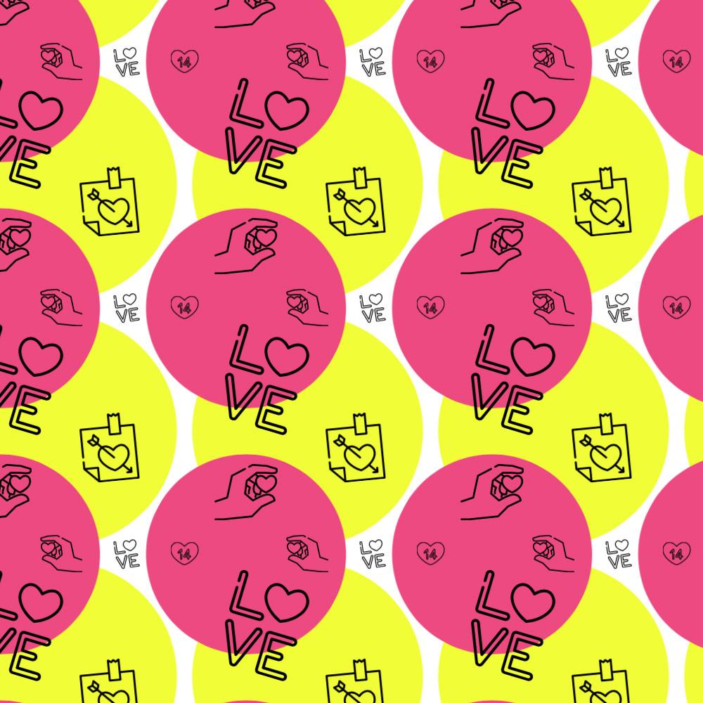 可爱的卡哇伊手绘图案PS爱情元素填充素材