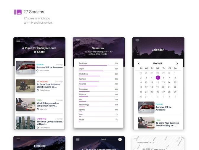 移动App UI设计 - Sketch源文件素材下载