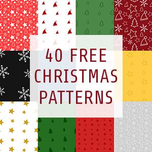 40种可爱的圣诞节饰品装饰背景图案Photoshop填充图案底纹素材 Patterns 下载