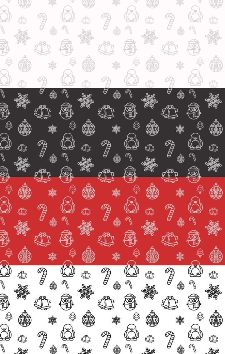 新年快乐、圣诞节节日背景气氛印花装饰Photoshop填充图案底纹素材 Patterns 下载
