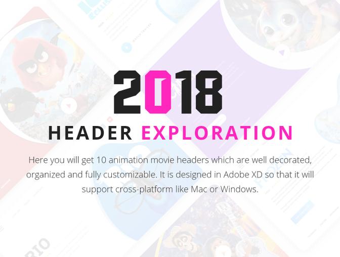 10种精美的电影卡片UI设计 - Adobe XD模板素材免费下载