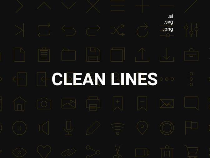 一组简洁的线条式图标UI设计素材下载(含PNG、Ai、SVG格式)