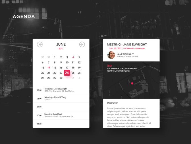 Aerea UI套件 - PSD源文件素材免费下载