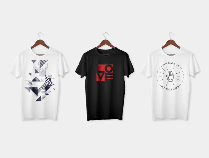 T恤样机、体恤衫模板素材 -  PSD文件下载