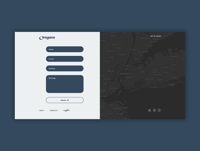 简洁的商务网站模板  - 支持:Adobe XD模板、 Sketch模板和PSD模板