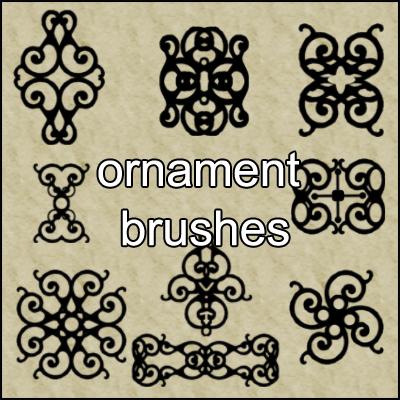 古典装饰性印花花纹图案Photoshop笔刷素材下载