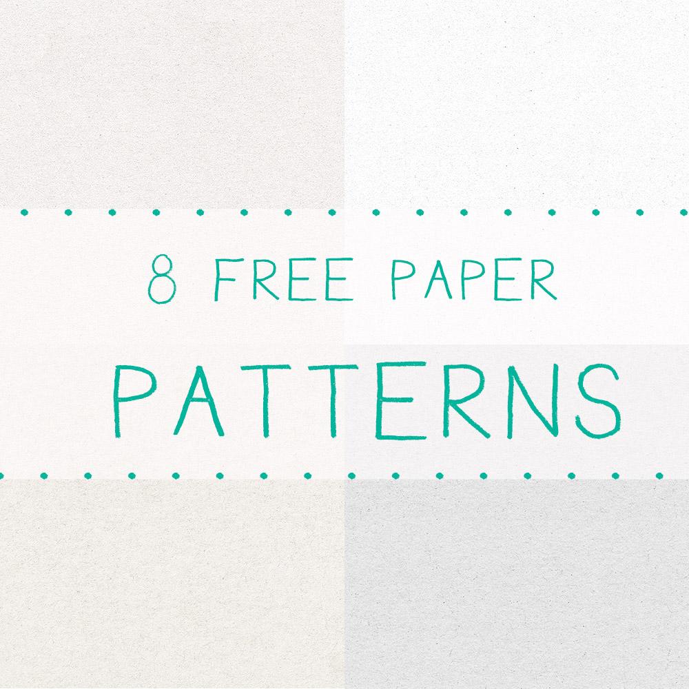 8种免费的纸张材质纹理Photoshop填充图案文件底纹素材 .pat 下载