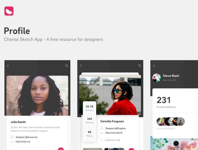 免费的手机 App 用户界面设计模板 - Sketch 源文件下载
