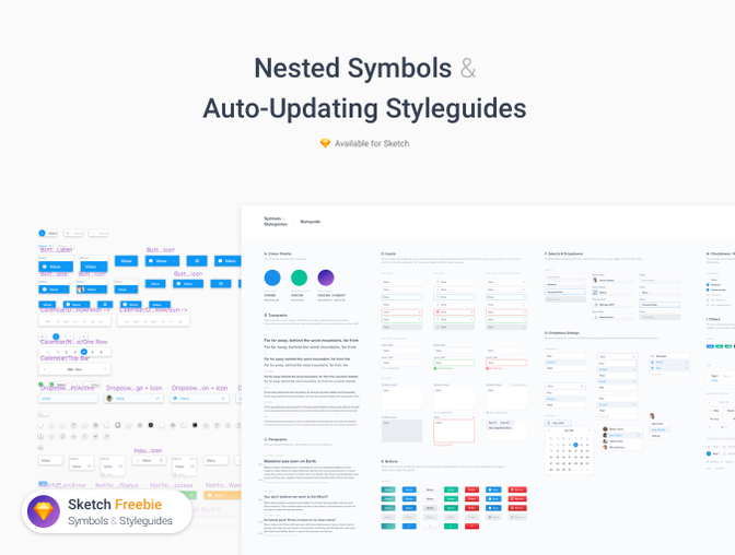 Web 模板元素、模块UI 素材 -  Sketch 设计文件下载