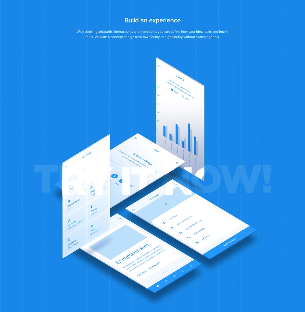 简洁 Web Mobile 框架工具包 - Adobe XD模板素材