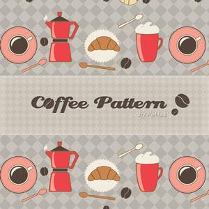 咖啡背景图案Photoshop纹理底纹素材.pat