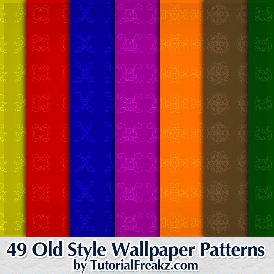 49种复古样式风格墙纸印花纹理Photoshop图案底纹素材.pat