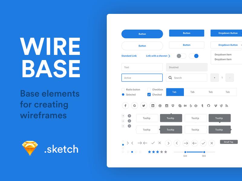 Web 搜索框、按钮、文本框等元素 - Sketch 设计模板下载
