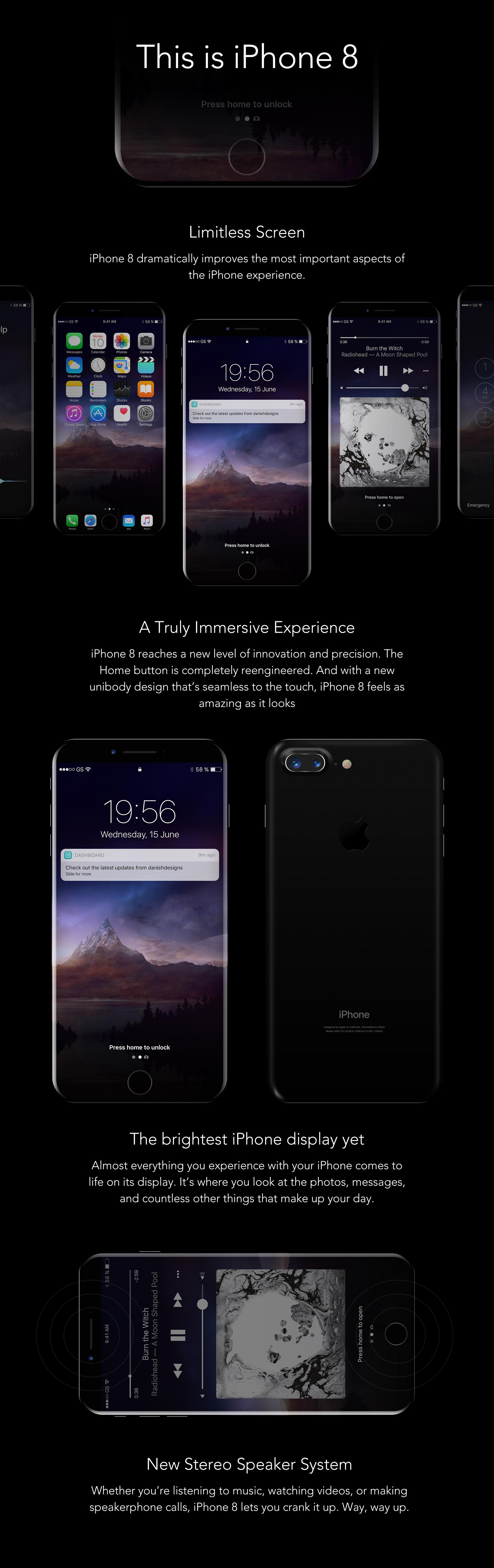 iPhone 8 样机模板素材 - PSD源文件下载