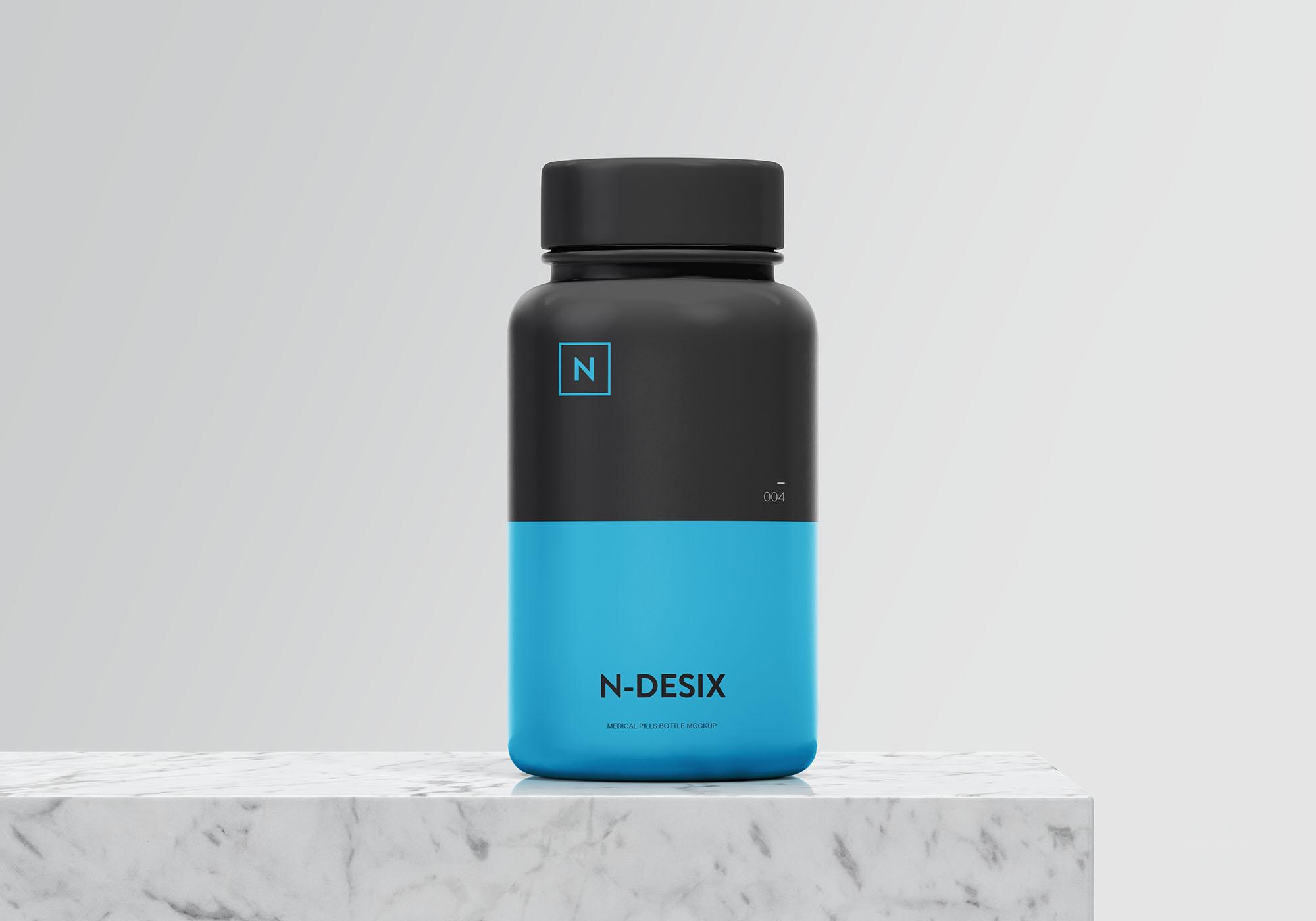 高品质药瓶、塑料瓶子模型 - PSD源文件素材下载