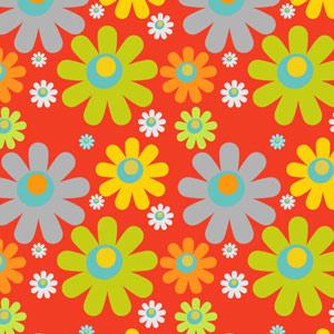 七彩矢量鲜花花朵图案PS填充底纹素材下载