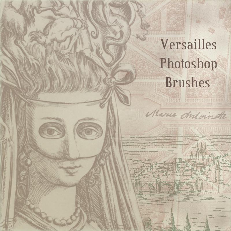 凡尔赛宫主题素描图案Photoshop笔刷