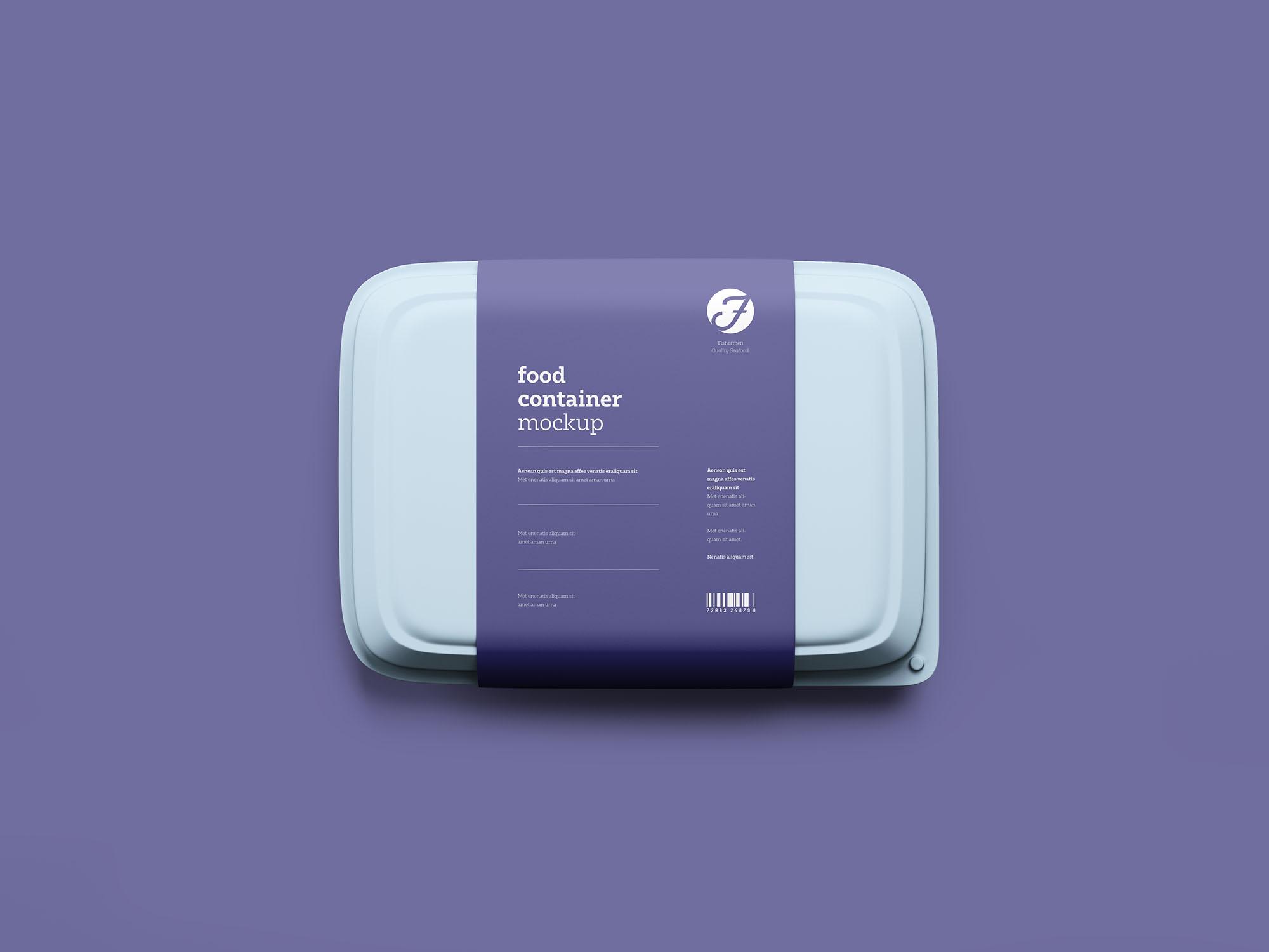 塑料餐盒、食品盒子模型 - PSD源文件下载