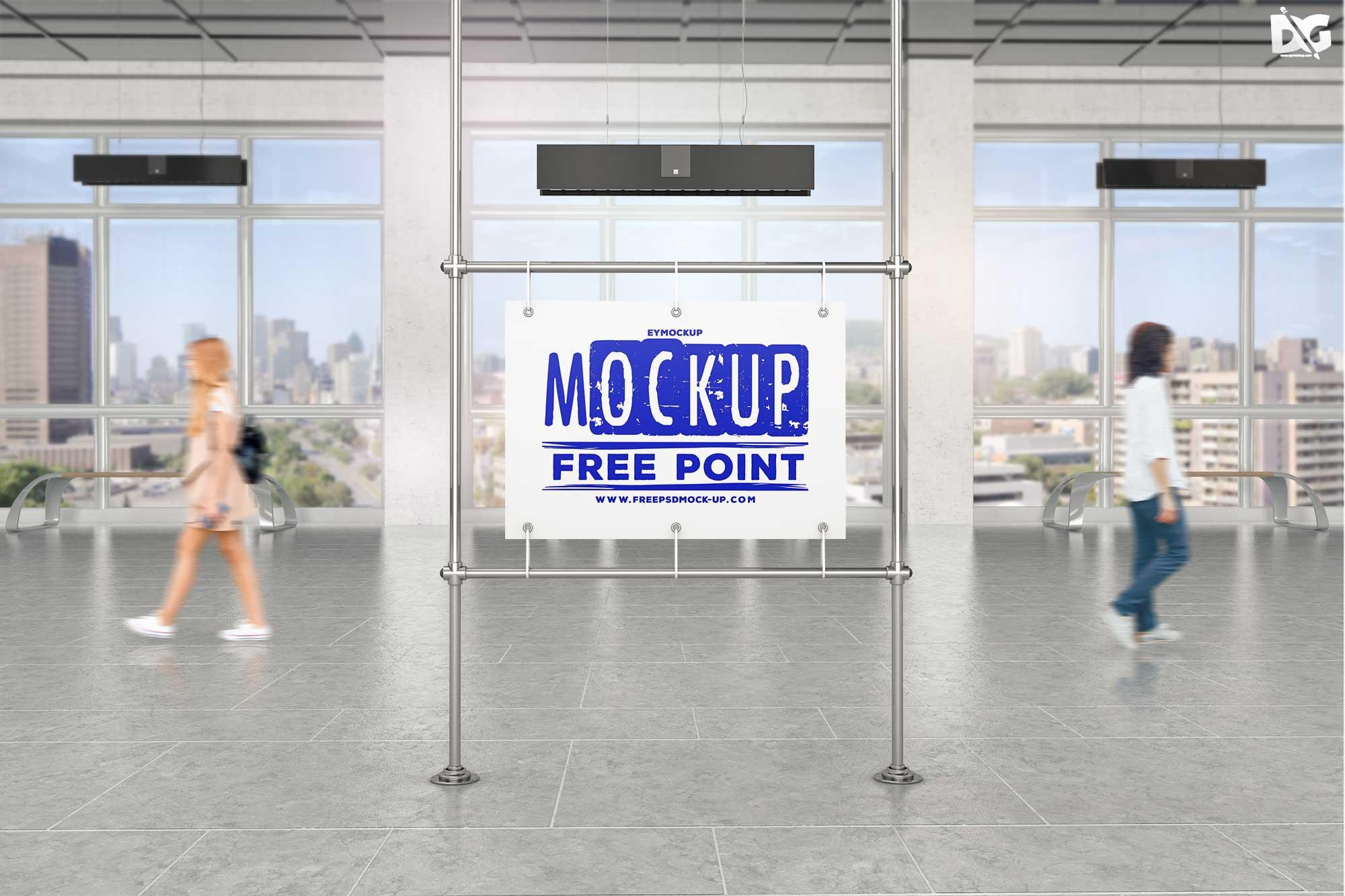 户外广告牌展示背景模版 - PSD素材免费下载