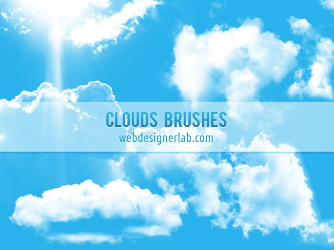 蓝天白云、云朵效果Photoshop笔刷免费下载