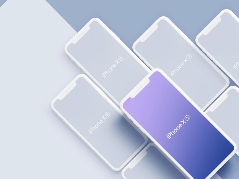 iPhone XS、iPhone XS Max Mockups 样机素材模型 -  Sketch 模板设计素材下载