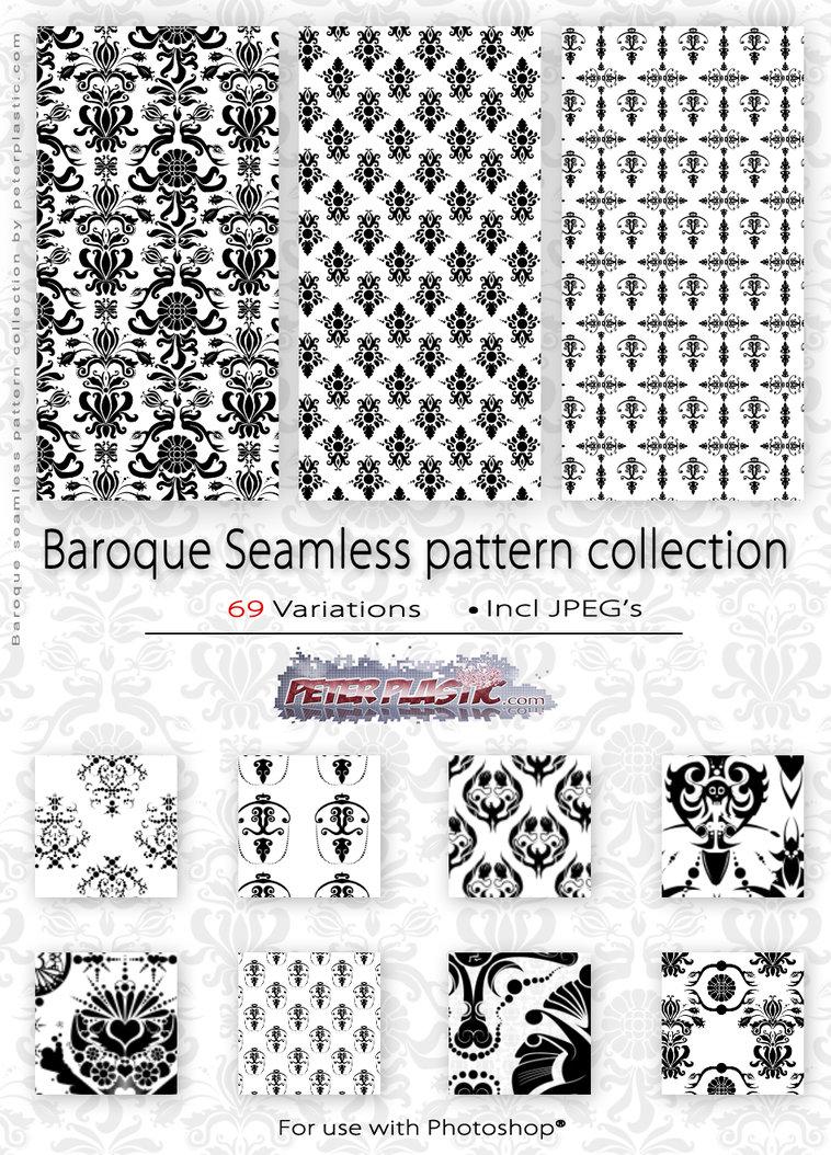 欧式宫殿系列印花图案PS填充底纹素材下载