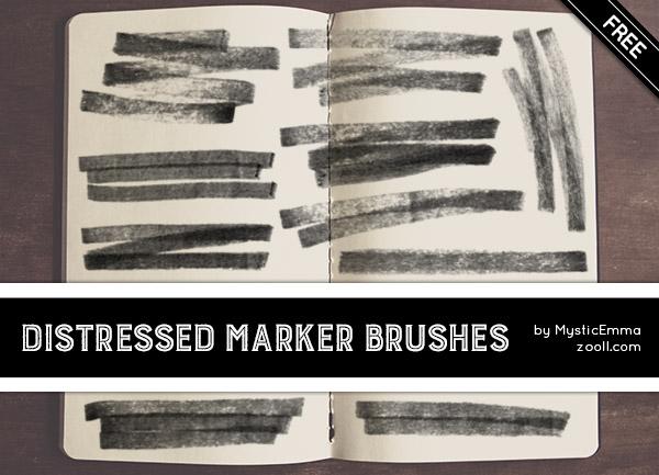 碳素笔纹理划痕笔迹纹理PS笔刷下载