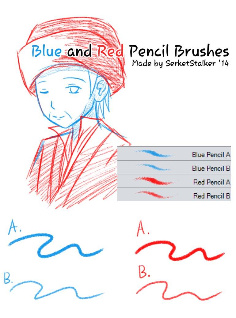 蜡笔、粉笔笔触风格的csp笔刷素材sut画笔下载