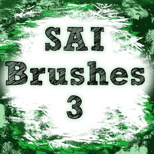 油漆风格的SAI画笔笔触素材免费下载