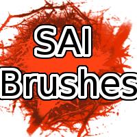 一套怪异的混合型SAI画笔PaintTool SAI笔刷素材下载