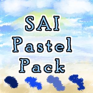 水彩类笔触 SAI画笔PaintTool SAI笔刷素材下载