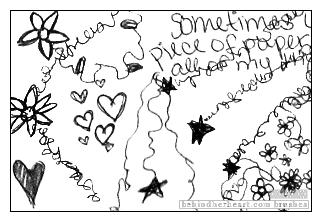 童趣手绘线条爱心、花纹、星星等图案Photoshop笔刷素材(JPG格式)
