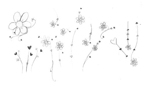 童趣涂鸦鲜花花朵图案Photoshop印花笔刷