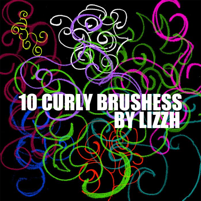 10种涂鸦艺术粉笔花纹、蜡笔印花图案Photoshop笔刷素材下载
