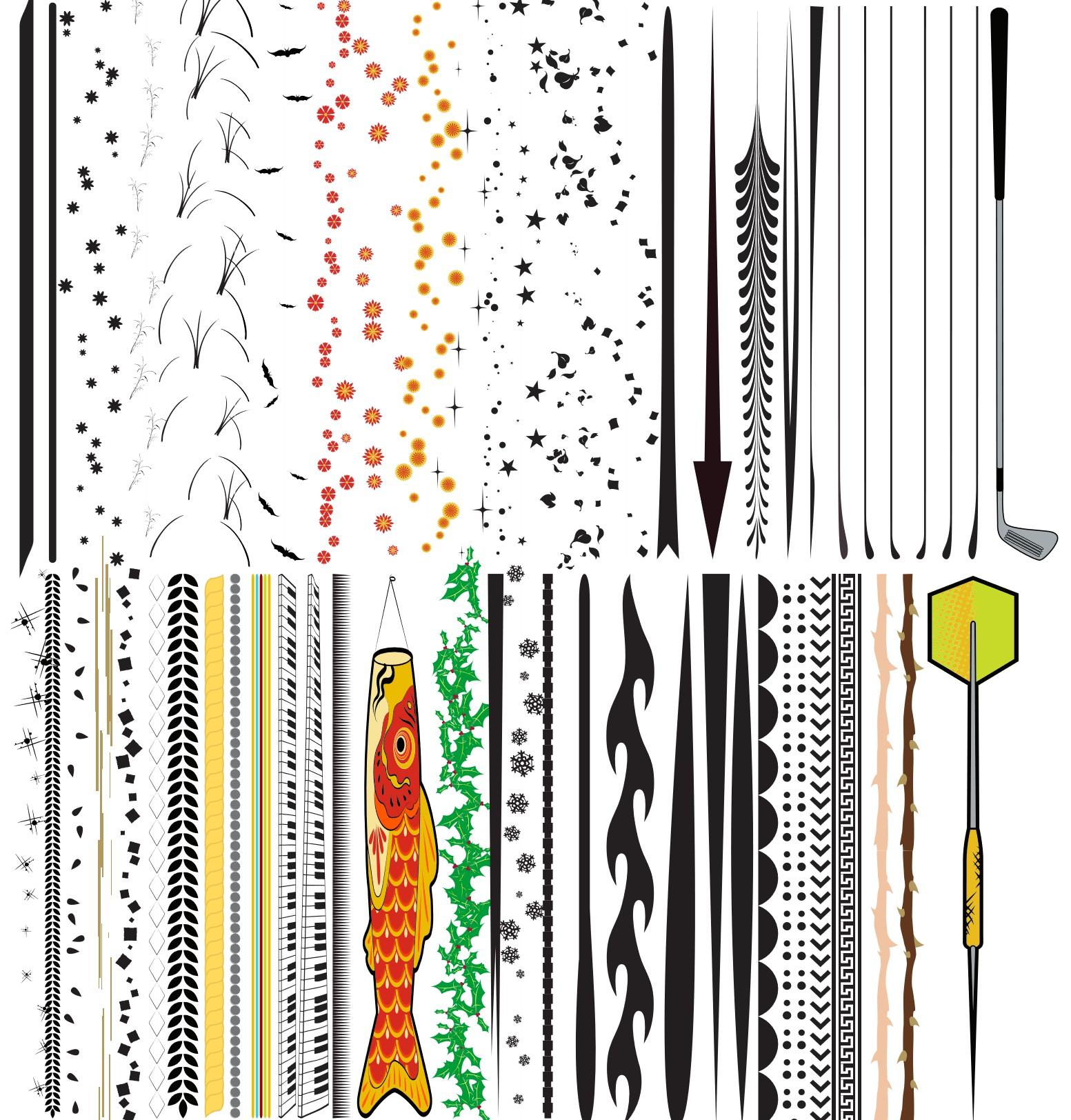 多用途艺术Illustrator笔刷/Ai画笔(PDF格式)