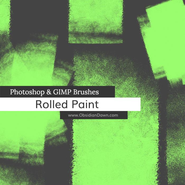滚筒痕迹、油漆滚筒涂抹纹理Photoshop笔刷素材