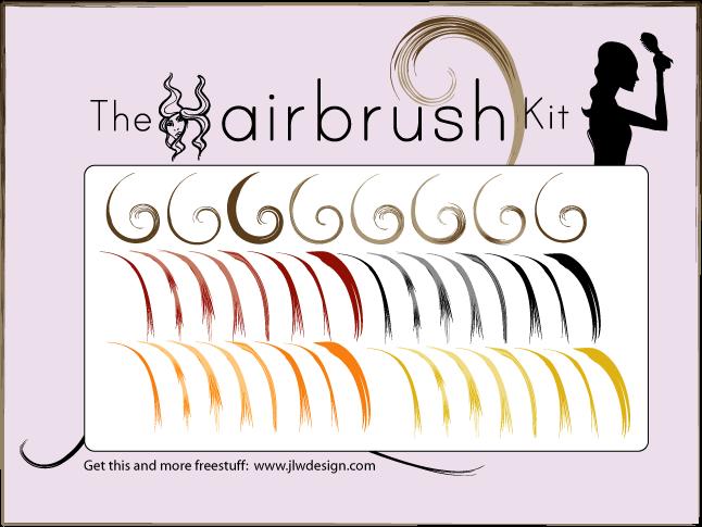 手绘毛发、发丝笔触效果Illustrator笔刷画笔素材下载