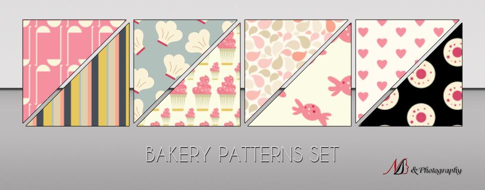 烘焙、蛋糕、下午茶背景图案Photoshop底纹素材.pat