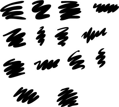 大号水彩笔触Illustrator笔刷素材下载(PDF格式文件)