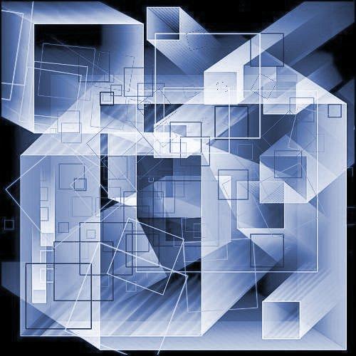 背景投影几何体图形Photoshop笔刷素材下载