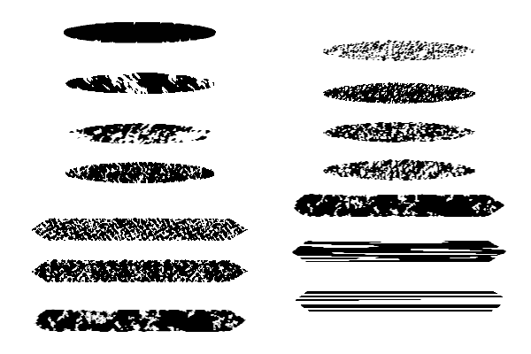 几种纹理式笔触Illustrator笔刷/Ai画笔