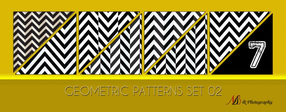 7种折线效果背景图案Photoshop填充图案底纹素材 Patterns 下载