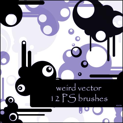 12种时尚潮流背景装扮元素图案PS笔刷素材下载